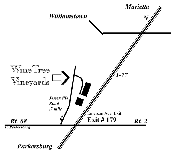 Map to Vineyard